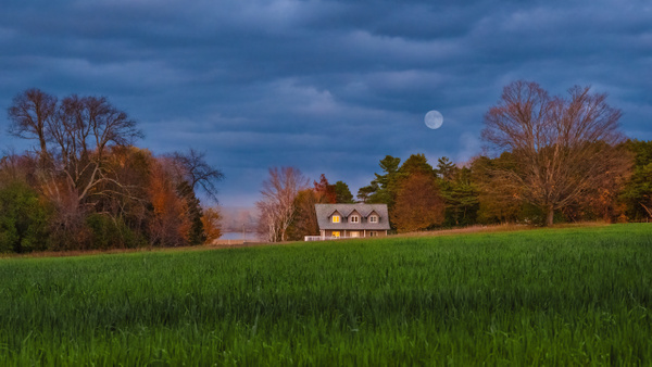 Blue Moon Over Famview - Landscapes - Dee Potter Photography