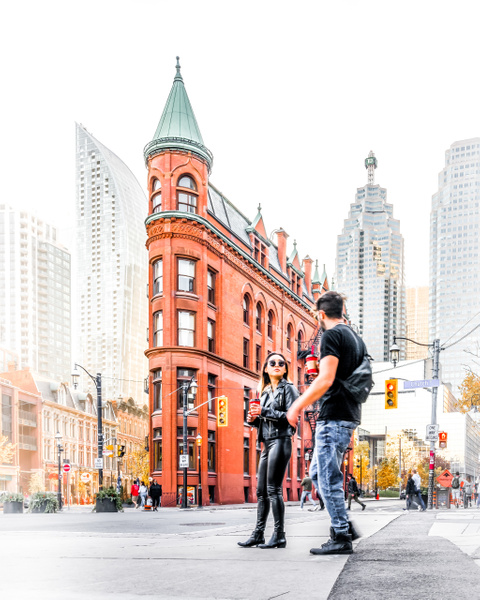 Gooderham Flatiron Building Toronto Tourists - White Photos - Dee Potter Photography