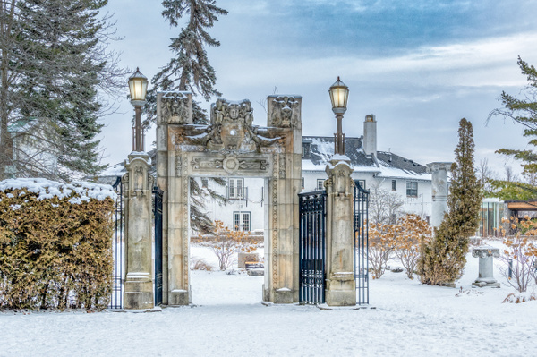 Guild Inn Estate Gate - White Photos - Dee Potter Photography