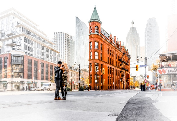 Gooderham Flatiron Fog Toronto - White Photos - Dee Potter Photography