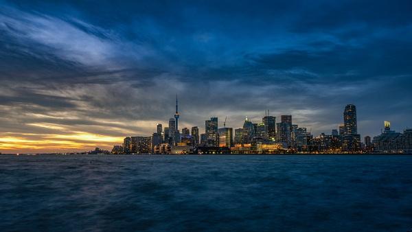 Toronto Skyline November Sunset - Urban - Dee Potter Photography