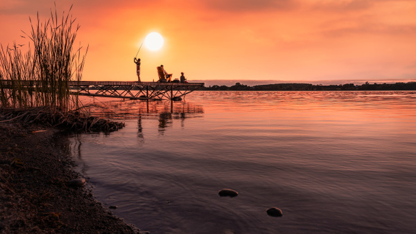 Sunset Fishing - Landscapes - Dee Potter Photography
