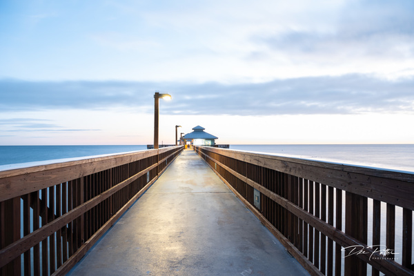 Sunset Pier OE - White Photos - Dee Potter Photography