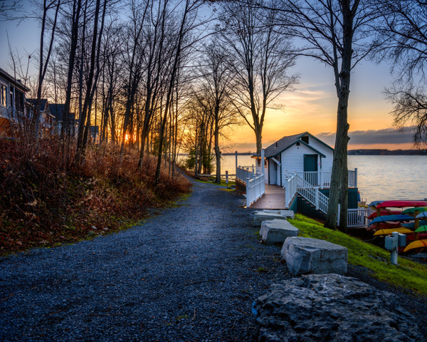 Until Next Year Cottage Sunset - Landscapes - Dee Potter Photography