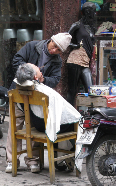 Outdoor barber Hanoi JPG - Home -  Michael J. Donow Photography