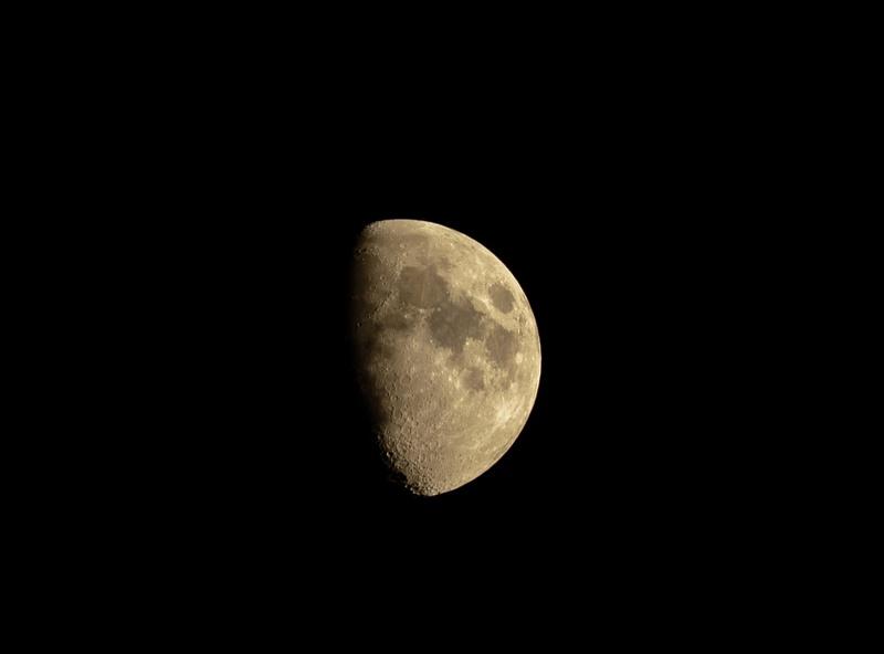 Half moon over Yorba Linda