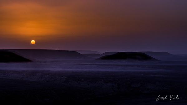 Dusty sunset in Yemeni Desert - Special: Namibia - Garth Fuchs Photography