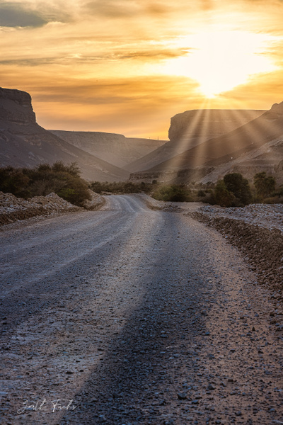 sand Road with sunset in the Yemen Desert-1 - Special: Namibia - Garth Fuchs Photography