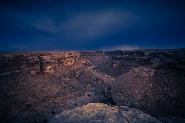Dark and cloudy wadi in the Yemen - Special: Namibia - Garth Fuchs Photography