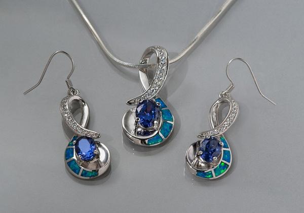 Blue-Green-Earrings by LuminousLight