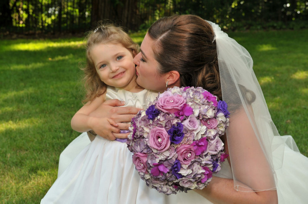 LHTV-Flower-Girl-Bride - Luminous Light Photo offers Wedding Photography and Video packages