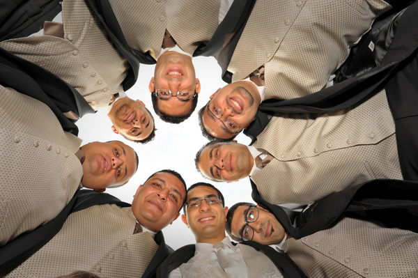 MTRF-Groomsmen_Huddle - Luminous Light Photo offers Wedding Photography and Video packages
