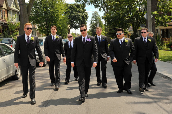 OCPA-Marching-Groomsmen - Luminous Light Photo offers Wedding Photography and Video packages