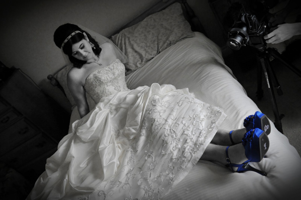 SBRR-Bride-Blue-Shoes - Luminous Light Photo offers Wedding Photography and Video packages