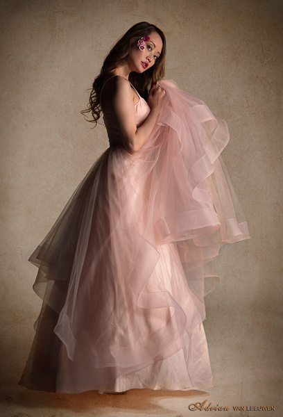 model-in-pink-dress-indoors by LuminousLight