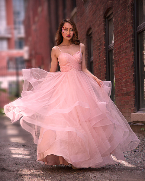 model-in-pink-dress-outdoors - Toronto photography video and graphic design