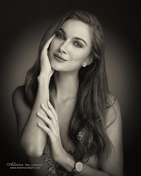 Anastasia-Sepia-Tone-Portrait - Model and Actor Portfolio Photography by Luminous Light Photo