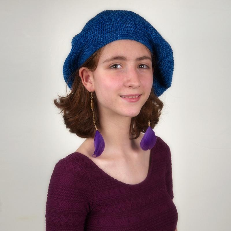 Fashion-Model-Hat-Earrings