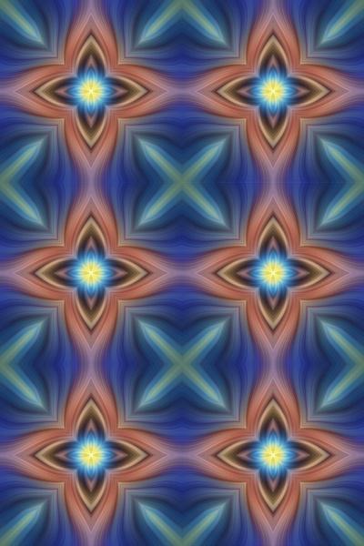 No.16-Six-Stars-Pattern-Fractal - Fine Art