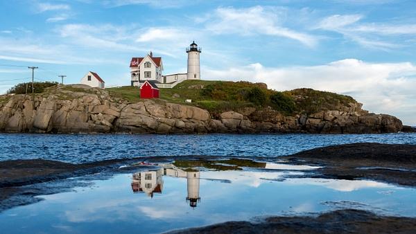 Nubble Lighthouse reflection - Landscapes - Blackburn Images Photography