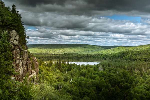 Grand Marais, Minnesota - Mount Oberg, view over Lake Oberg - July 2018 - USA 2018 - Johan Clausen Photography