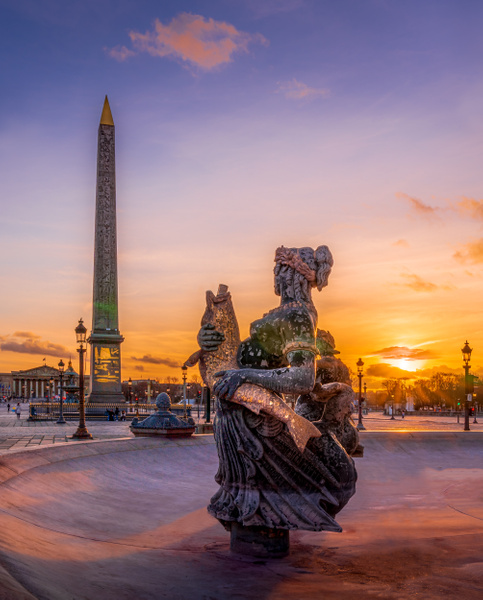 Paris-Place-de-la-Concorde-Obelisk-sunset - Home - Thomas Speck Photography