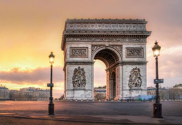 Paris-Arc-de-Triomphe-Sun-Rise - Paris - Thomas Speck Photography