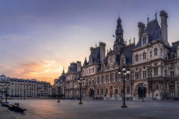 Paris-Hôtel-de-Ville-Sunrise - Cityscapes - Thomas Speck Photography
