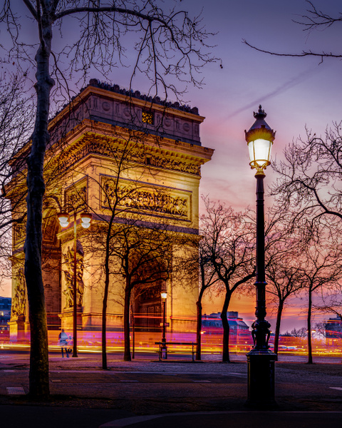 Paris-Arc-de-triomphe-sunset-night - Paris - Thomas Speck Photography