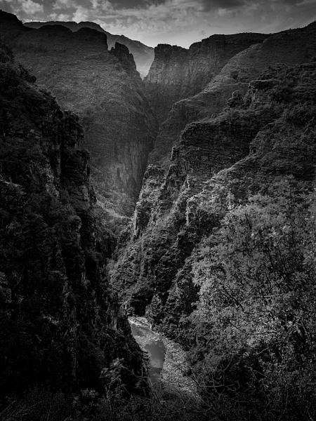Gorges de Daluis-Colorado Nicois-France-Le Var-Mountains-Valley-BW - Black White - Thomas Speck Photography