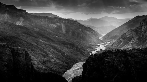 Gorges de Daluis-Colorado Nicois-France-Le Var-Mountains-Valley-Hiking-BW - Black White - Thomas Speck Photography