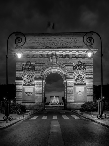 Montpellier-Arc de Triomphe-France-BW - Black White - Thomas Speck Photography