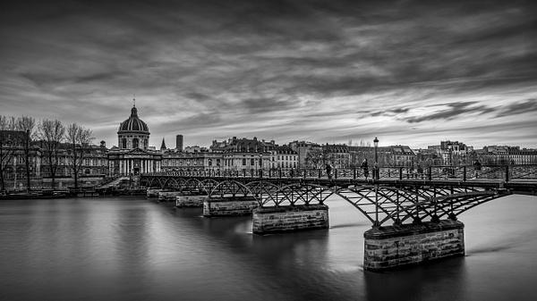 Paris-Pont des Arts-Institut de France-BW - Black White - Thomas Speck Photography