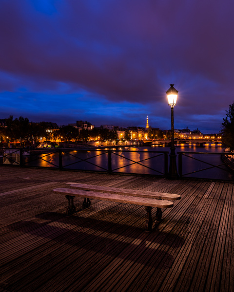 Paris-Pont des Arts-Eiffel Tower-Blue Hour - Paris - Thomas Speck Photography