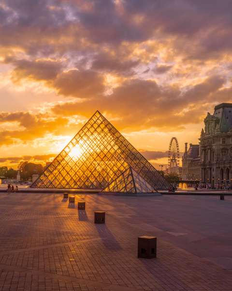 Paris-Pyramide du Louvre-Grande Roue - Paris - Thomas Speck Photography