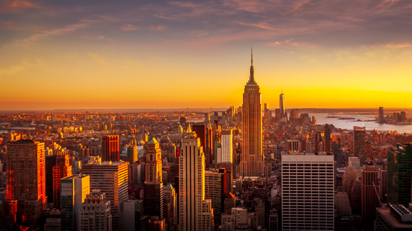 New York-Empire State Building-Rockefeller Center-Sunset-Manhatten - Cityscapes - Thomas Speck Photography
