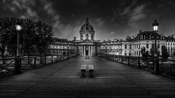 Paris-Institut de France-Pont des Arts-Black and White - Black White - Thomas Speck Photography