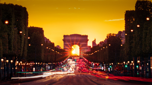 Paris-Champs Elysees-Arc de triomphe-Sunset - Landscapes - Thomas Speck Photography
