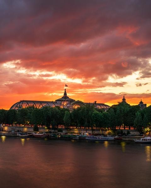 Paris-Grand Palais-Sunset-Colorful-Seine River-France - Landscapes - Thomas Speck Photography