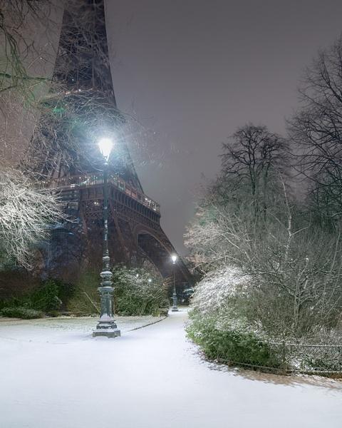 Paris-Eiffel Tower-Champ de Mars-Snow - Home - Thomas Speck Photography