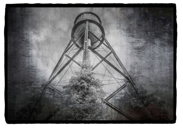 Water tower on vellum - Special Processes - Joanne Seador Photography