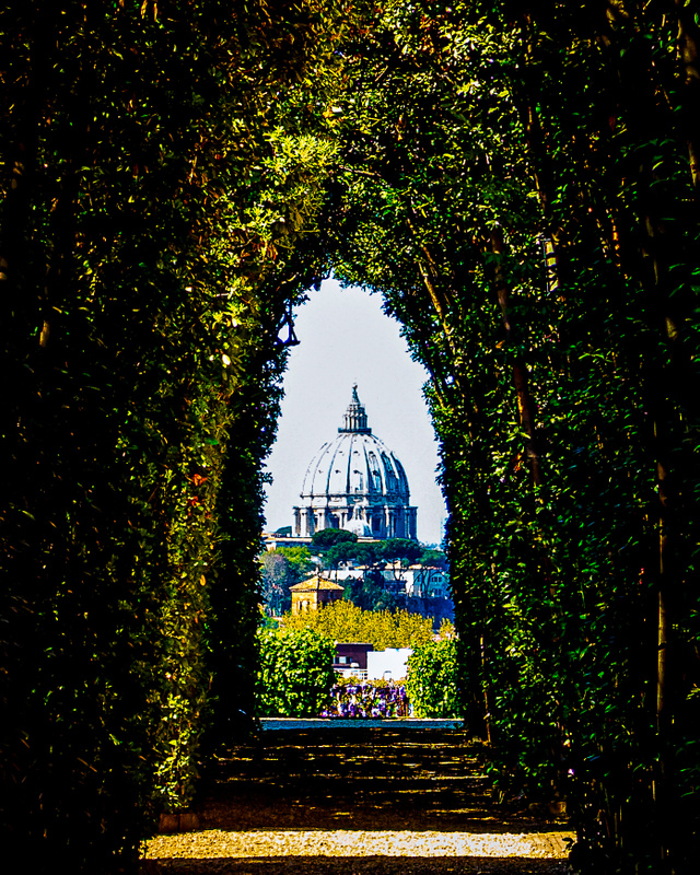 The keyhole of the Knights of Malta