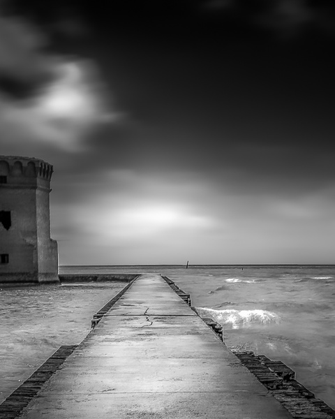 Black and White Fort Jefferson Florida - Key West, Florida - Bill Frische Photography