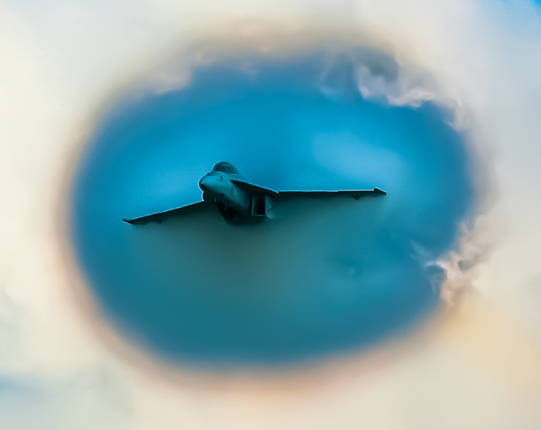 Fighter blowing through the clouds - Aviation - Jim Krueger Photography