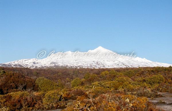Mt Ruapehu from Desert Rd NZ - NZ Scenery - Graham Reichardt Photography