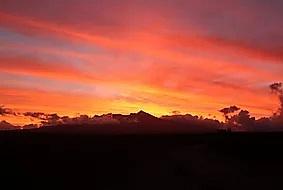 sunset over Mt Ruapehu. NZ Hi-Definition print on Aluminum a3 $85 - Shops - Graham Reichardt Photography