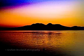 Abstract of mountains  and Lake Taupo canvas print A3 $85 - Shops - Graham Reichardt Photography