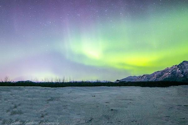 1- Aurora Borealis or Northern Lights taken in Knik River valley Anchorage - Aurora - Graham Reichardt Photography