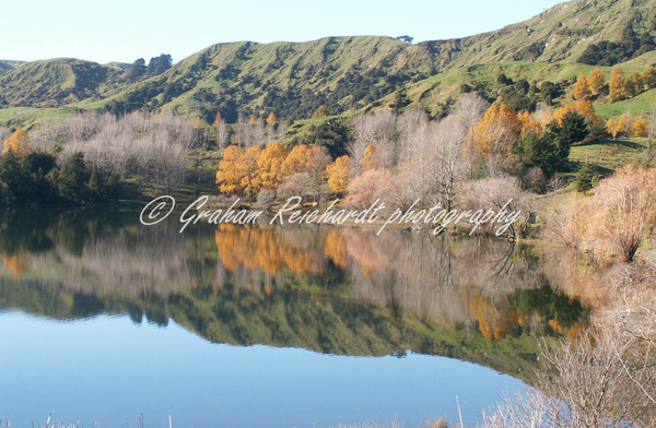 Lake Tutira Hawkes Bay NZ A3 canvas print $75 - Shops - Graham Reichardt Photography