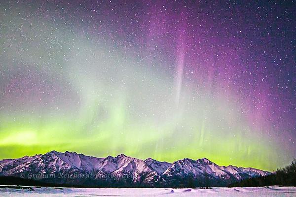 Aurora Borealis ,Knik river Valley Alaska 2 of 1 - Aurora - Graham Reichardt Photography
